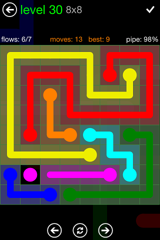 Flow Green Pack 8 x 8 Level 30 Solution