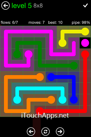Flow Green Pack 8 x 8 Level 5 Solution