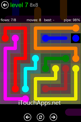 Flow Green Pack 8 x 8 Level 7 Solution