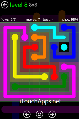 Flow Green Pack 8 x 8 Level 8 Solution