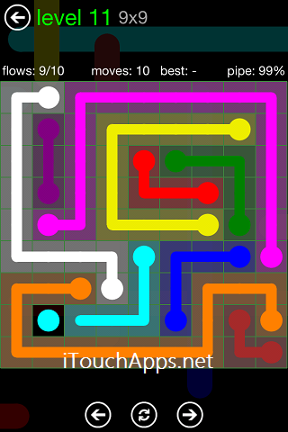 Flow Green Pack 9 x 9 Level 11 Solution
