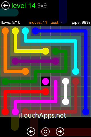 Flow Green Pack 9 x 9 Level 14 Solution
