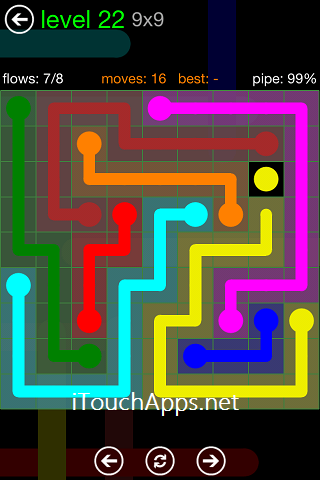 Flow Green Pack 9 x 9 Level 22 Solution