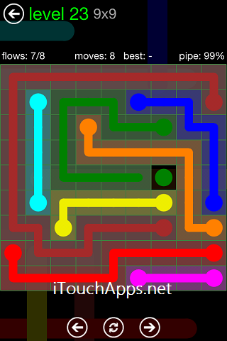 Flow Green Pack 9 x 9 Level 23 Solution