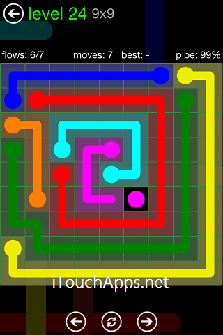 Flow Green Pack 9 x 9 Level 24 Solution
