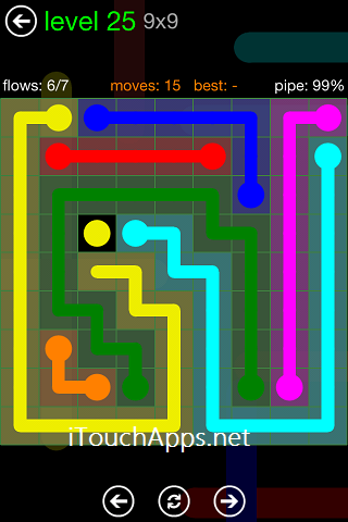 Flow Green Pack 9 x 9 Level 25 Solution