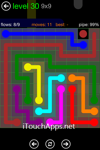Flow Green Pack 9 x 9 Level 30 Solution