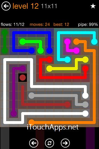 Flow Jumbo Pack 11 x 11 Level 12 Solution