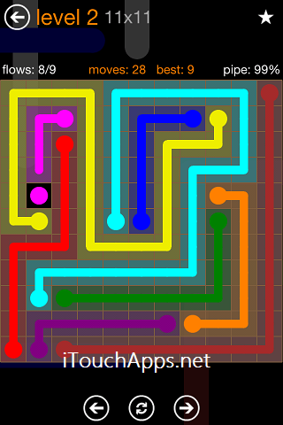 Flow Jumbo Pack 11 x 11 Level 2 Solution