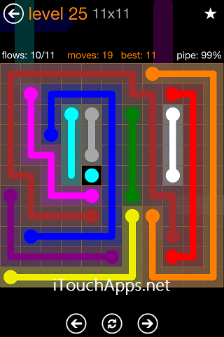 Flow Jumbo Pack 11 x 11 Level 25 Solution