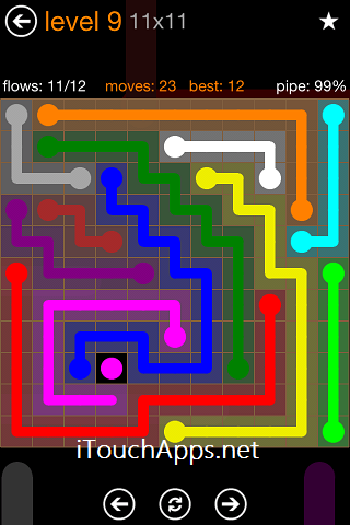 Flow Jumbo Pack 11 x 11 Level 9 Solution