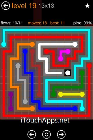Flow Jumbo Pack 13 x 13 Level 19 Solution