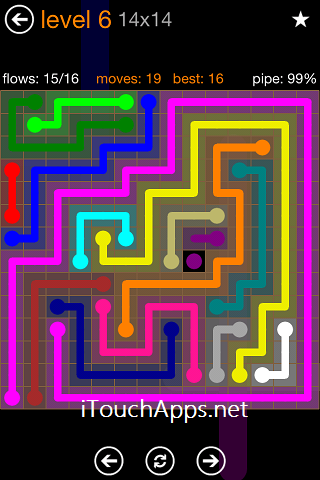 Flow Jumbo Pack 14 x 14 Level 6 Solution