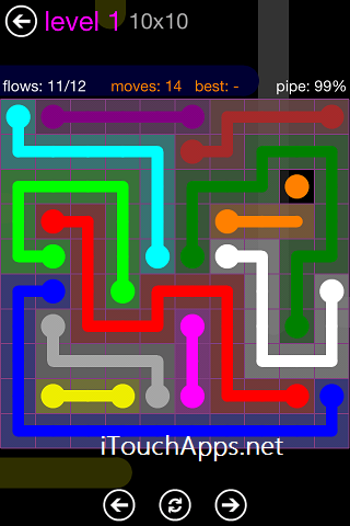 Flow Purple Pack 10 X 10 Level 1 Solution
