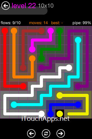 Flow Purple Pack 10 X 10 Level 22 Solution