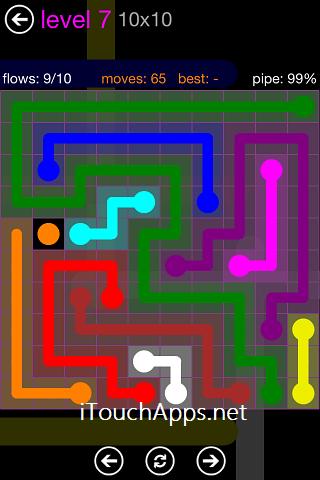 Flow Purple Pack 10 x 10 Level 7 Solution