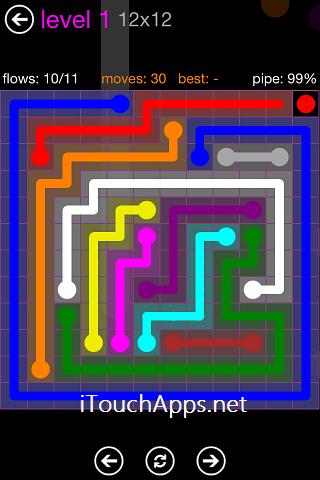 Flow Purple Pack 12 x 12 Level 1 Solution