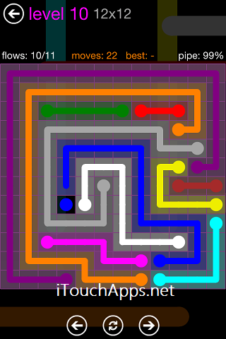 Flow Purple Pack 12 x 12 Level 10 Solution