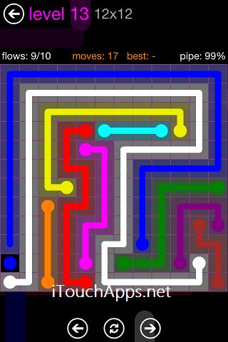 Flow Purple Pack 12 x 12 Level 13 Solution