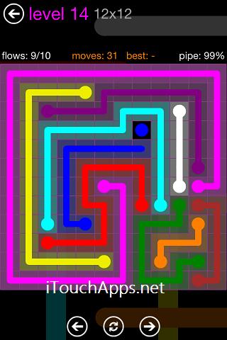 Flow Purple Pack 12 x 12 Level 14 Solution