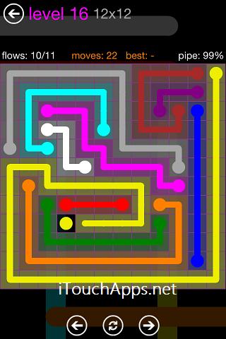 Flow Purple Pack 12 x 12 Level 16 Solution