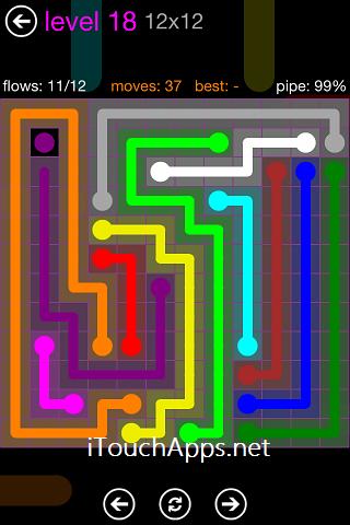 Flow Purple Pack 12 x 12 Level 18 Solution