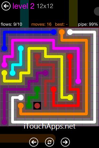 Flow Purple Pack 12 x 12 Level 2 Solution