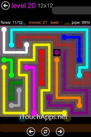 Flow Purple Pack 12 x 12 Level 20 Solution