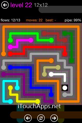 Flow Purple Pack 12 x 12 Level 22 Solution