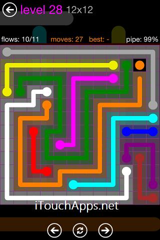 Flow Purple Pack 12 x 12 Level 28 Solution