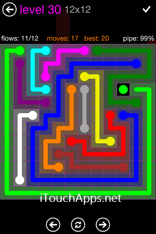 Flow Purple Pack 12 x 12 Level 30 Solution