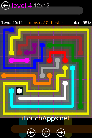 Flow Purple Pack 12 x 12 Level 4 Solution