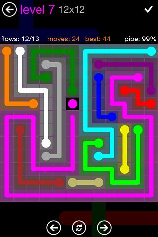 Flow Purple Pack 12 x 12 Level 7 Solution