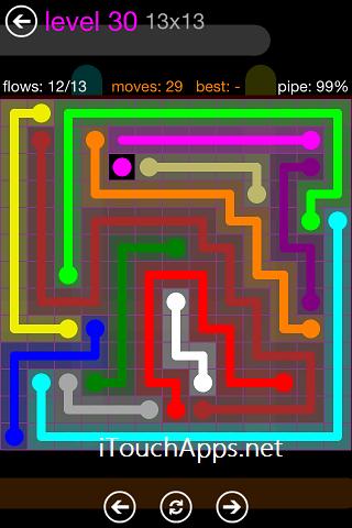 Flow Purple Pack 13 x 13 Level 30 Solution