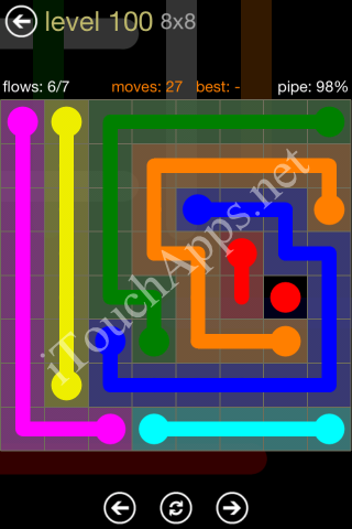 Flow Game 8x8 Mania Pack Level 100 Solution
