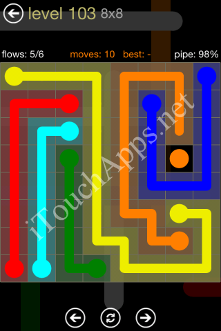 Flow Game 8x8 Mania Pack Level 103 Solution