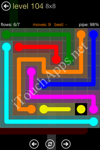 Flow Game 8x8 Mania Pack Level 104 Solution