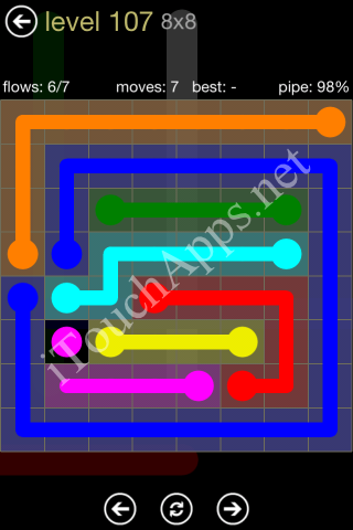 Flow Game 8x8 Mania Pack Level 107 Solution