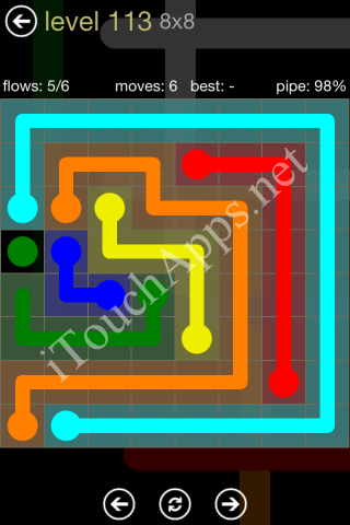 Flow Game 8x8 Mania Pack Level 113 Solution