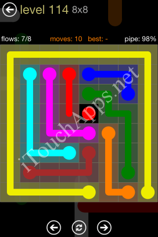 Flow Game 8x8 Mania Pack Level 114 Solution