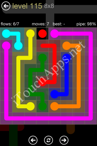 Flow Game 8x8 Mania Pack Level 115 Solution