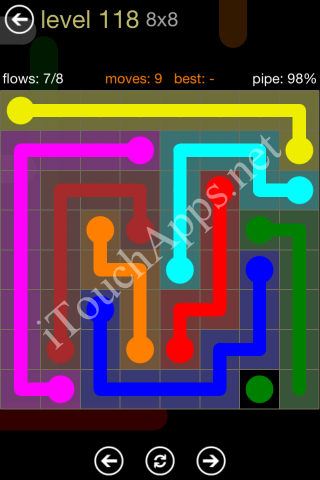 Flow Game 8x8 Mania Pack Level 118 Solution