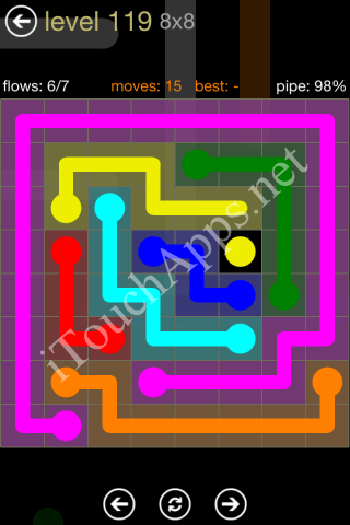 Flow Game 8x8 Mania Pack Level 119 Solution