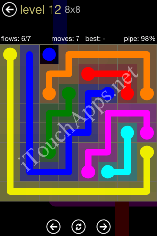 Flow Game 8x8 Mania Pack Level 12 Solution