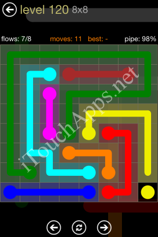 Flow Game 8x8 Mania Pack Level 120 Solution