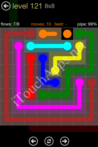 Flow Game 8x8 Mania Pack Level 121 Solution