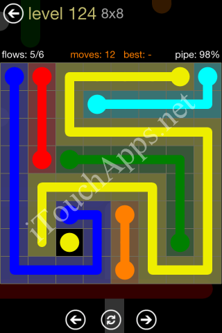 Flow Game 8x8 Mania Pack Level 124 Solution
