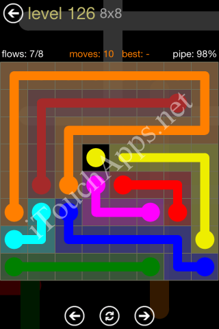 Flow Game 8x8 Mania Pack Level 126 Solution