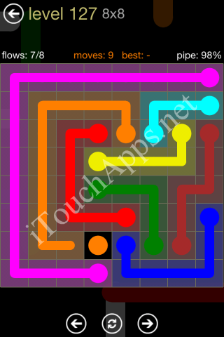 Flow Game 8x8 Mania Pack Level 127 Solution