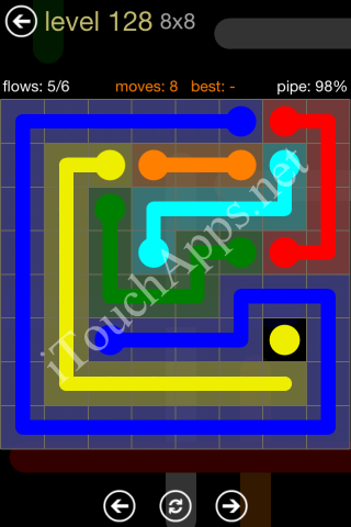 Flow Game 8x8 Mania Pack Level 128 Solution